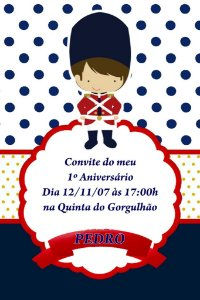 Convite digital personalizado Soldadinho de Chumbo 002