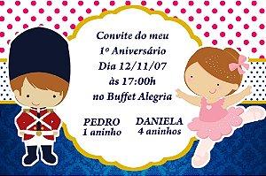 Convite digital personalizado Soldadinho de Chumbo e Bailarina 003