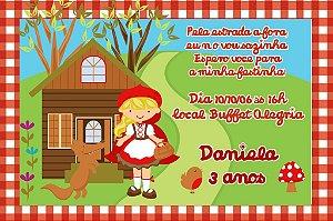Convite digital personalizado Chapeuzinho Vermelho 003