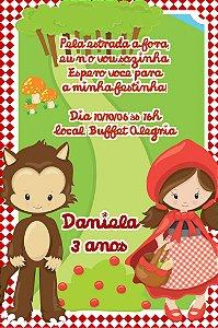 Convite digital personalizado Chapeuzinho Vermelho 005