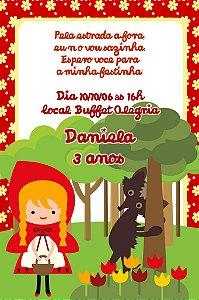 Convite digital personalizado Chapeuzinho Vermelho 006