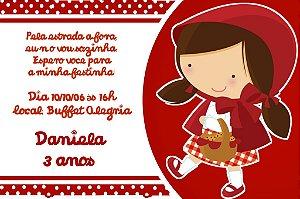 Convite digital personalizado Chapeuzinho Vermelho 009