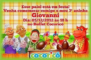Convite digital personalizado Cocoricó 001