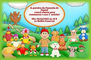 Convite digital personalizado Cocoricó 002