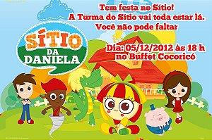 Convite digital personalizado Sítio do Pica-Pau Amarelo 003