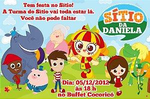 Convite digital personalizado Sítio do Pica-Pau Amarelo 004