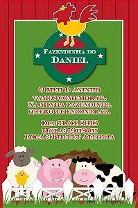 Convite digital personalizado Fazendinha 010