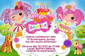 Convite digital personalizado Lalaloopsy 005