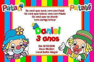 Convite digital personalizado Patati Patata 002