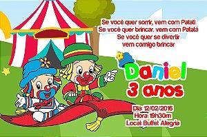 Convite digital personalizado Patati Patata 005