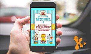 Convite digital personalizado Circo 015