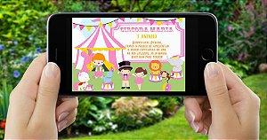 Convite digital personalizado Circo 003