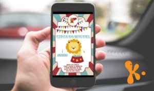 Convite digital personalizado Circo 008