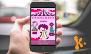 Convite digital personalizado Circo 009
