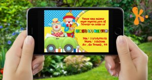 Convite digital personalizado Circo 010