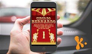Convite digital personalizado Circo 013