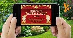Convite digital personalizado Circo 014