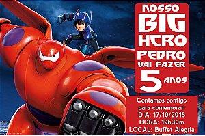 Convite digital personalizado Operação Big Hero 001