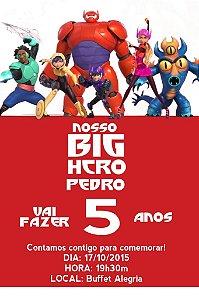 Convite digital personalizado Operação Big Hero 006