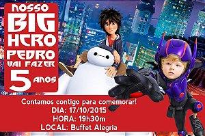 Convite digital personalizado Operação Big Hero com foto 004