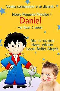 Convite digital personalizado Pequeno Principe com foto 001