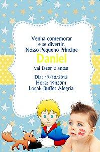 Convite digital personalizado Pequeno Príncipe com foto 003
