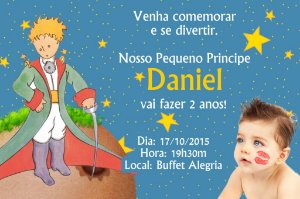 Convite digital personalizado Pequeno Príncipe com foto 005