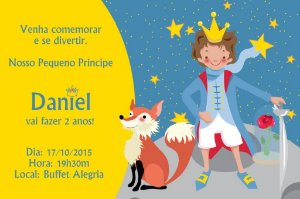 Convite digital personalizado Pequeno Príncipe 007