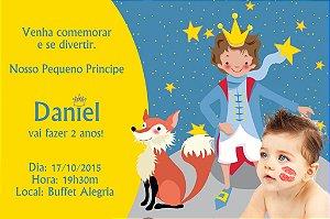 Convite digital personalizado Pequeno Príncipe com foto 006