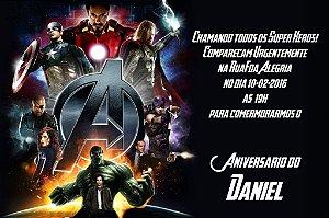 Convite digital personalizado Vingadores 003