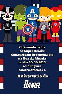 Convite digital personalizado Vingadores 009