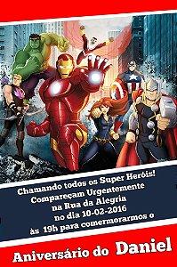 Convite digital personalizado Vingadores 010