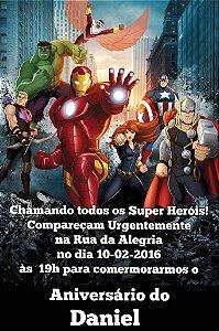 Convite digital personalizado Vingadores 012