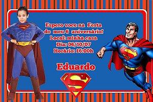 Convite digital personalizado Super Homem com foto 004