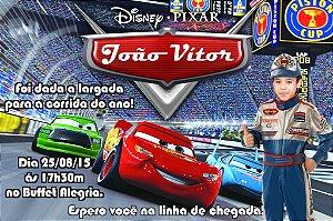 Convite digital personalizado Carros da Disney com foto 004