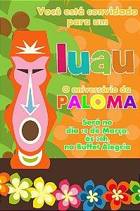 Convite digital personalizado Luau 005