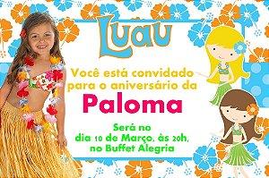 Convite digital personalizado Luau com foto