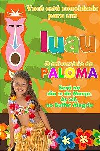 Convite digital personalizado Luau com foto 007