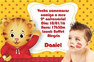 Convite digital personalizado Daniel Tigre com foto 001