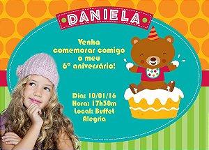 Convite digital personalizado de Aniversário com foto 004