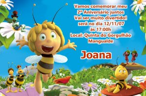 Convite digital personalizado A Abelha Maia 001