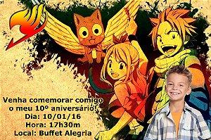 Convite digital personalizado Fairy Tail com foto 004