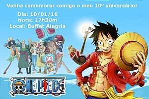 Convite digital personalizado One Piece 003