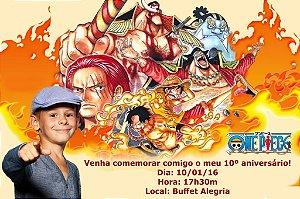 Convite digital personalizado One Piece com foto 001