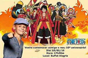Convite digital personalizado One Piece com foto 002