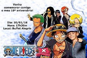 Convite digital personalizado One Piece com foto 004