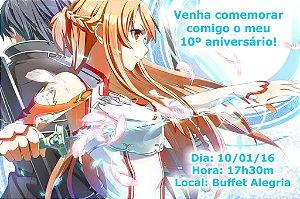 Convite digital personalizado Sword Art Online 004