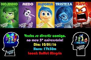 Convite digital personalizado Divertida Mente 002