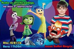 Convite digital personalizado Divertida Mente com foto 001