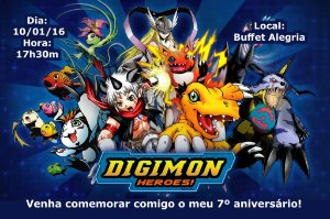 Convite digital personalizado Digimons 004